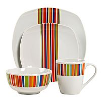 Tabletops Gallery Westwood 16-pc. Square Dinnerware Set