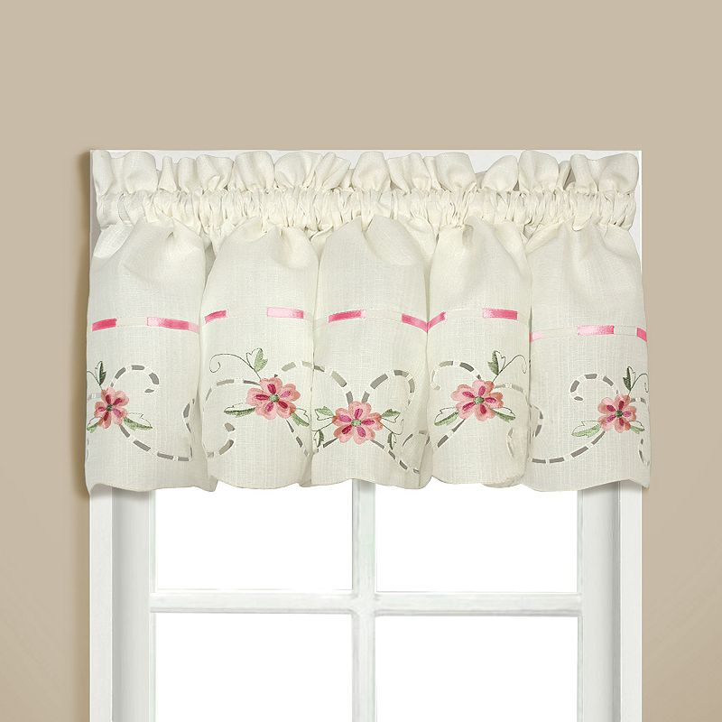United Curtain Co. Rachael Embroidered Valance - 60'' x 12''