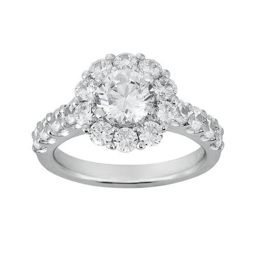 Cherish Always Round-Cut Diamond Engagement Ring in 14k White Gold (2 1/3 ct. T.W.)