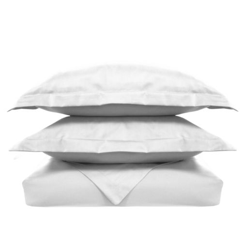 Solid 500-Thread Count Egyptian Cotton Sateen 3-pc. Duvet Cover Set - Full/Queen