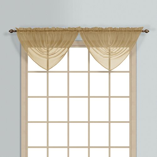 United Curtain Co Monte Carlo Waterfall Valance 60 X 34