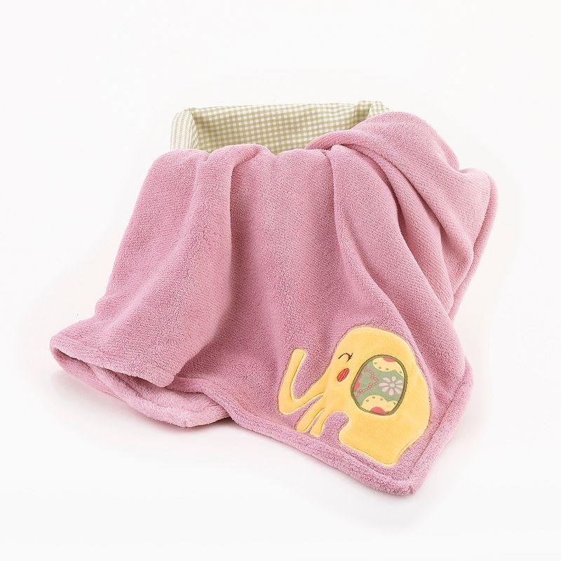 CoCo and Company Alphabet Sweeties Fleece Boa Blanket