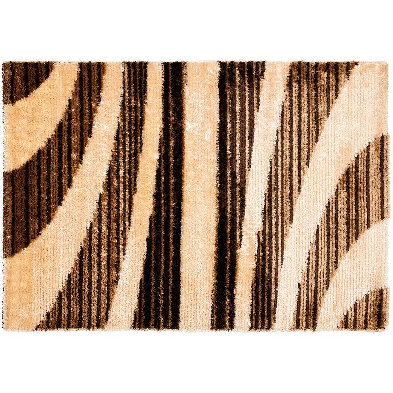 Safavieh Shag Striped Curves Rug - 4' x 6'
