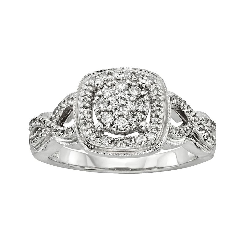 I Promise You Platinaire 3/8-ct. T.W. Diamond Twist Ring