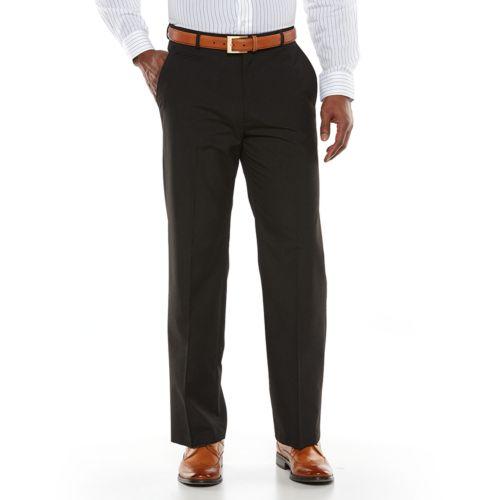 Haggar® 1926 Originals Straight-Fit Flat-Front Charcoal Heather Dress Pants - Men