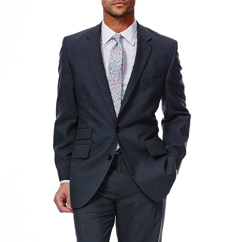 Men's Haggar® 1926 Originals Tailored Fit Charcoal Houndstooth Suit Jacket