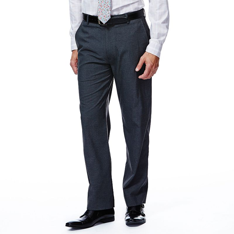Men's Haggar® 1926 Originals Straight-Fit Flat-Front Charcoal Houndstooth Suit Pants