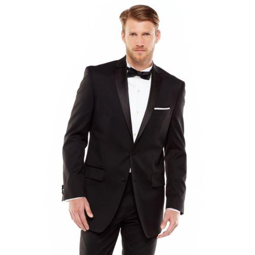 Marc Anthony Modern-Fit Wool Black Tuxedo Jacket - Men