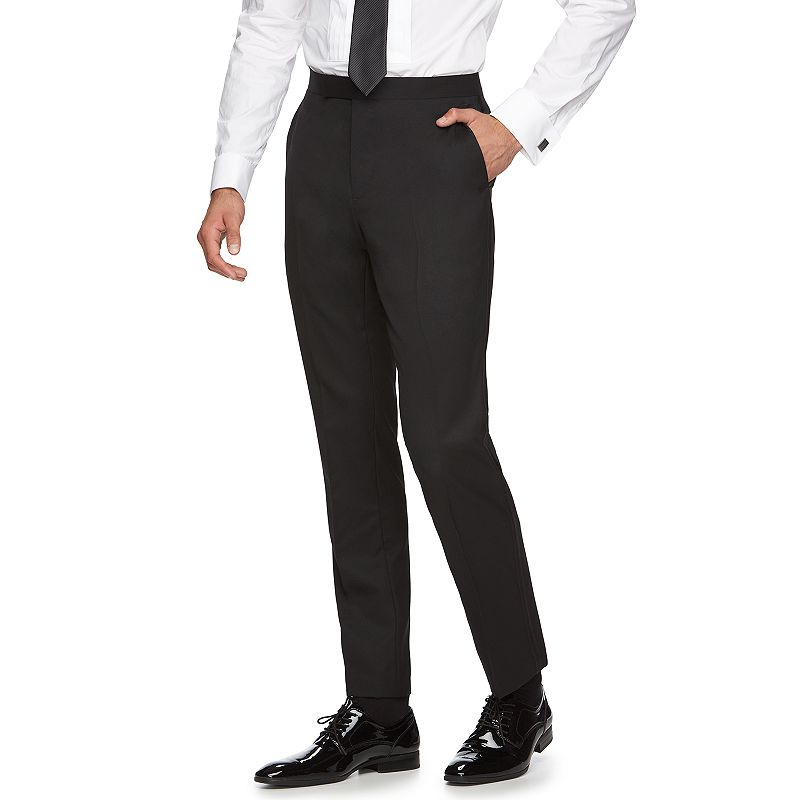 Men's Marc Anthony Slim-Fit Flat-Front Wool Tuxedo Pants