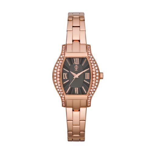 Jennifer Lopez Rose Gold Tone Stainless Steel Crystal Watch - Women