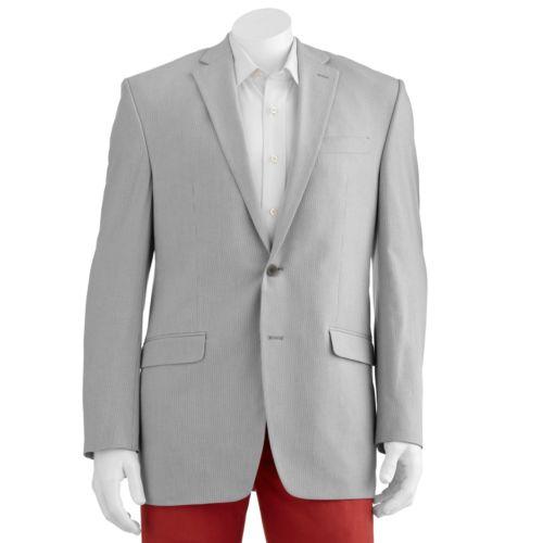 Men's Chaps Striped Seersucker Blazer - Men
