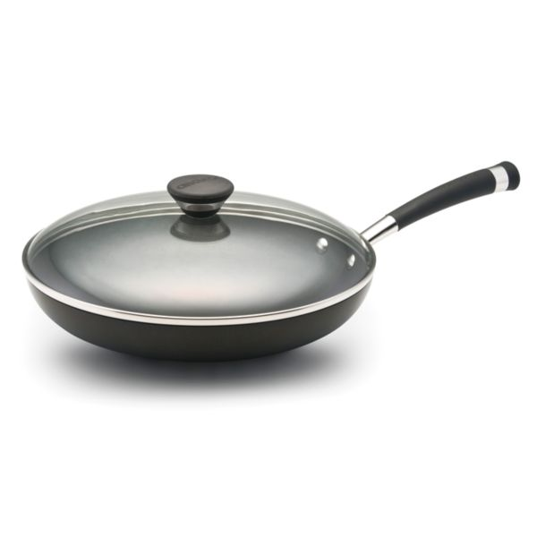 Circulon 12-in. Nonstick Hard-Anodized Covered Deep Skillet