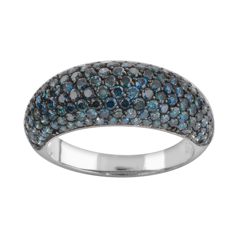 10k White Gold 2-ct. T.W. Blue Diamond Dome Ring