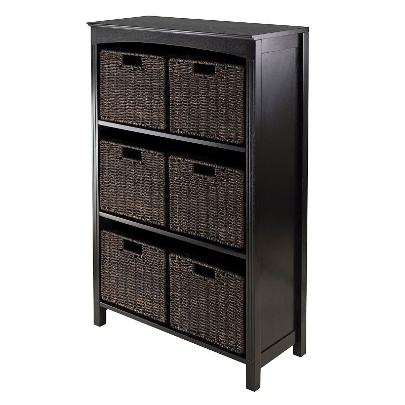 Winsome Terrace 6-Basket Storage Shelf
