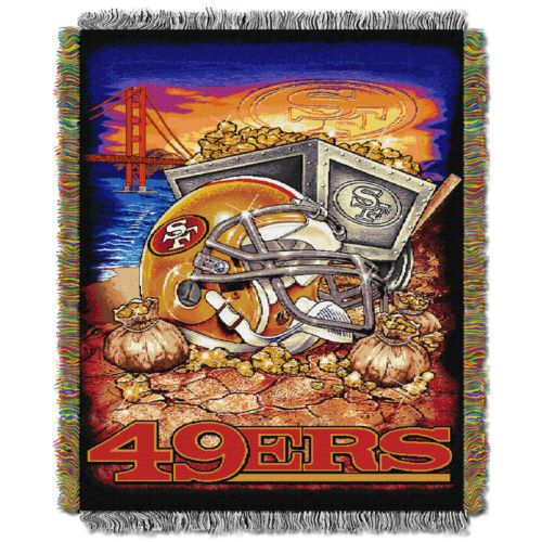 San Francisco 49ers Tapestry Throw by Northwest