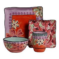 Kathy Davis Hearts & Flowers 4-pc. Square Place Setting