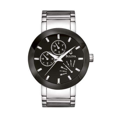Bulova Stainless Steel Watch - 96C105 - Men
