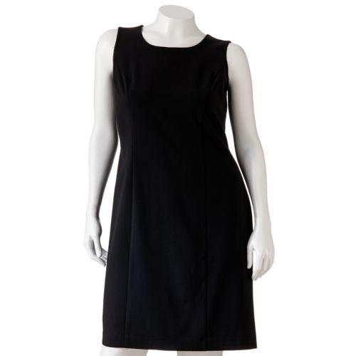 Plus Size Sag Harbor Solid Sheath Dress