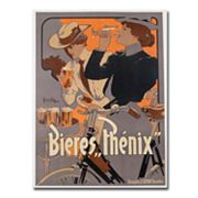 Phoenix Beer, 1899 24'' x 32'' Canvas Art by Adolf Hohenstein, Multicolor