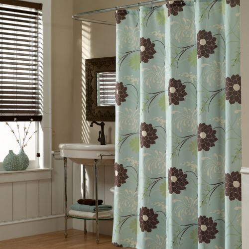 M. Style Floral Harmony Fabric Shower Curtain