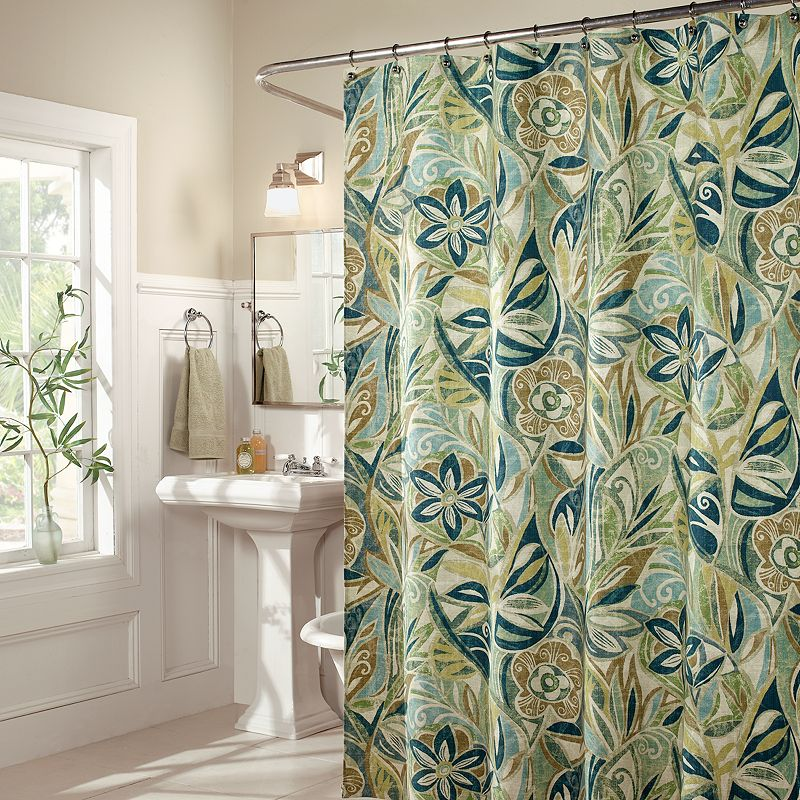 m.style Leaf Island Breeze Fabric Shower Curtain