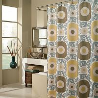 m.style Floral Blossom Fabric Shower Curtain