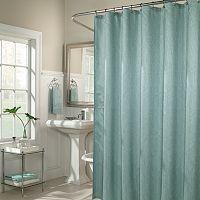 m.style Wavy Fabric Shower Curtain
