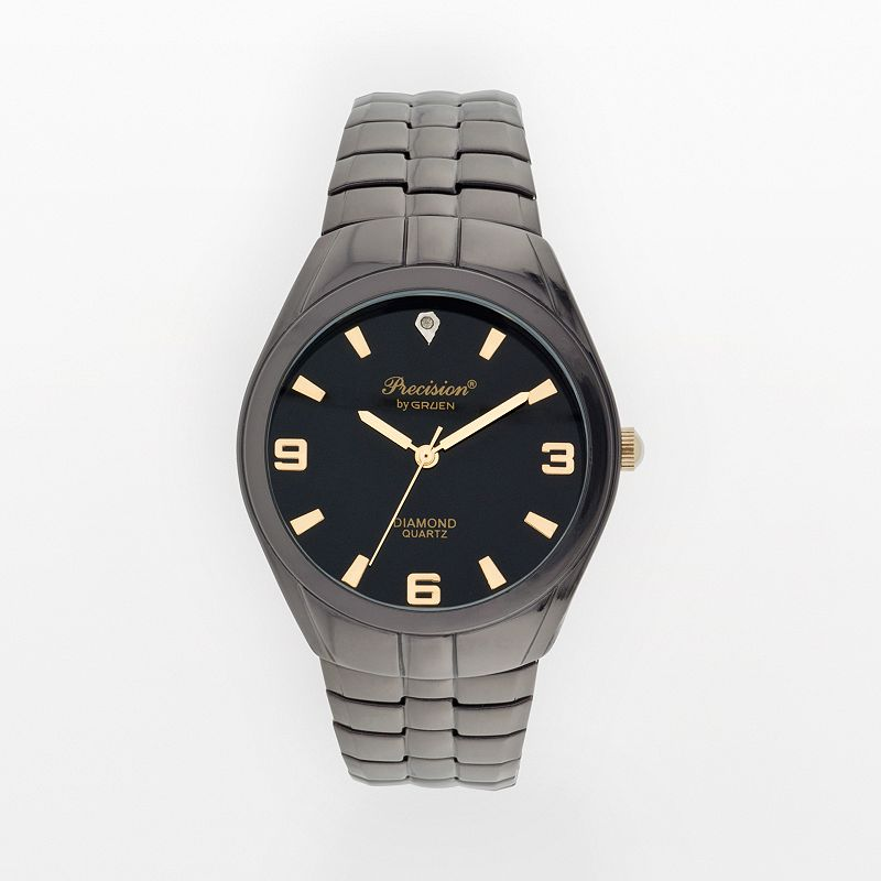 Precision by Gruen Diamond Accent Expansion Watch - Men