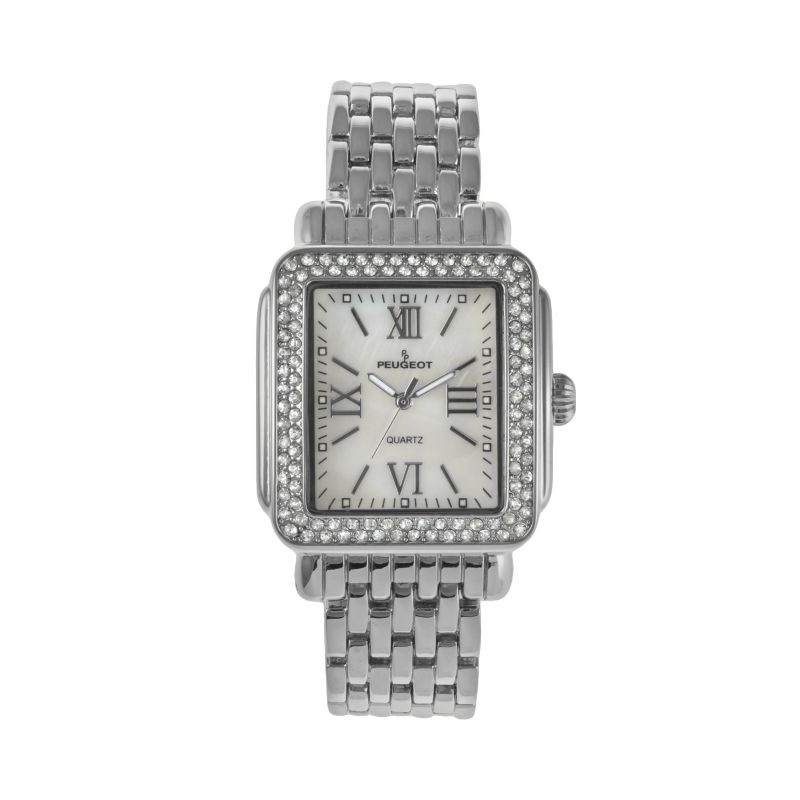 Peugeot Women's Crystal Watch - 7080S, Grey thumbnail