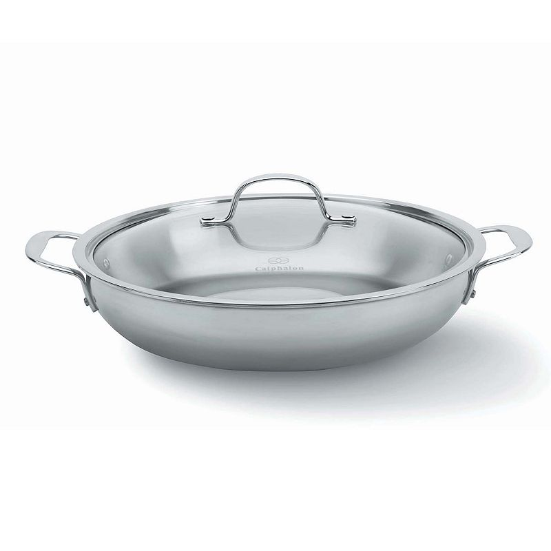 Calphalon Tri-Ply Stainless Steel 12-in. Covered Everyday Pan