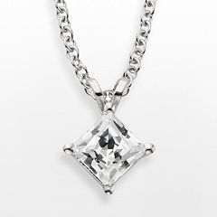 14k White Gold 1-ct. T.W. IGL Certified Diamond Solitaire Pendant by