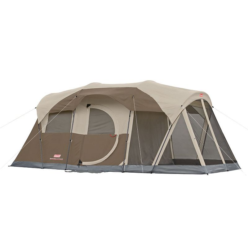Coleman WeatherMaster Screened 6-Person Camping Tent, Brown
