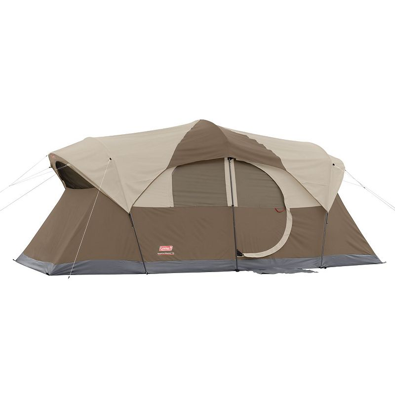 Coleman WeatherMaster 10-Person Camping Tent, Brown