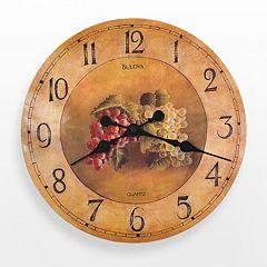 Bulova Whittingham Wood Grapes Wall Clock C3260