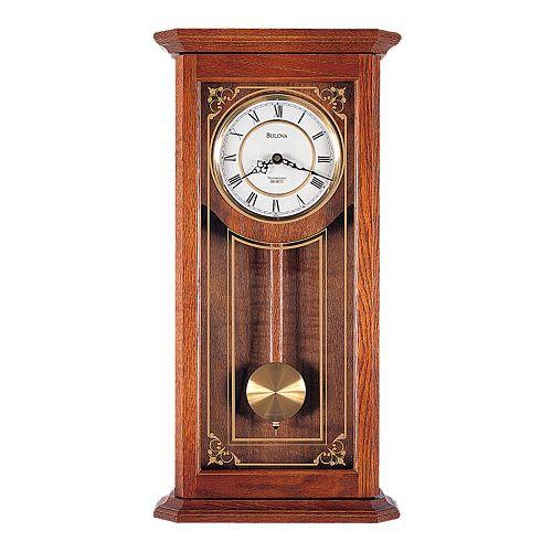 bulova cirrus oak pendulum wall clock c3375