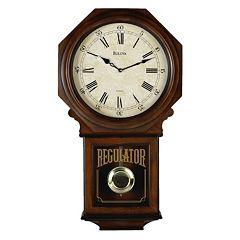 Bulova Westminster Melody Wood Schoolhouse Pendulum Wall Clock C3543
