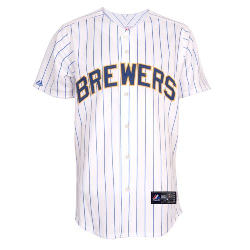 Men's Majestic Milwaukee Brewers Replica MLB Jersey