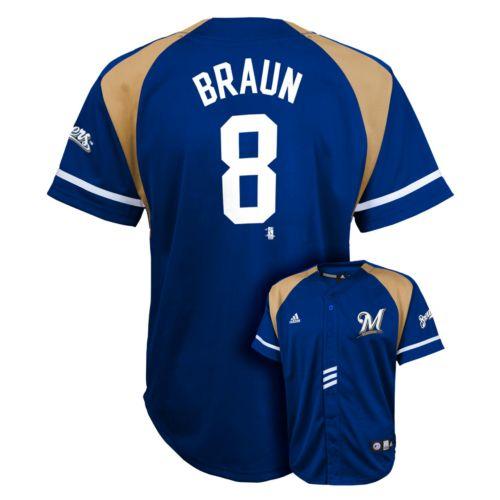 Boys 8-20 adidas Milwaukee Brewers Ryan Braun Jersey
