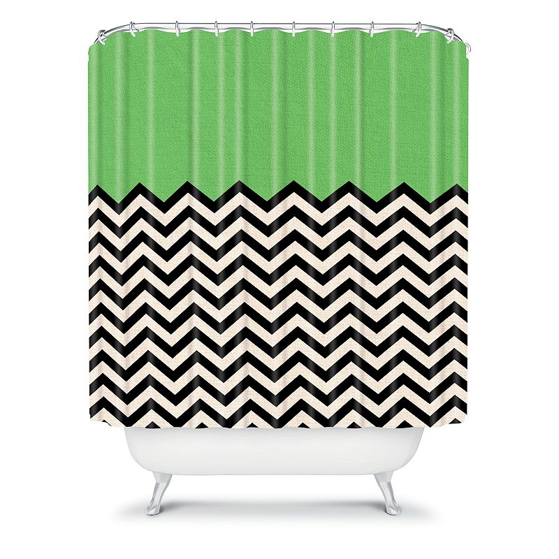 DENY Designs Bianca Green This Way Fabric Shower Curtain