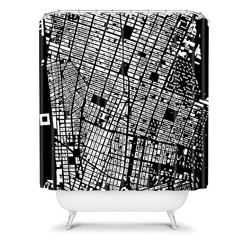 DENY Designs CityFabric Inc. NYC Fabric Shower Curtain