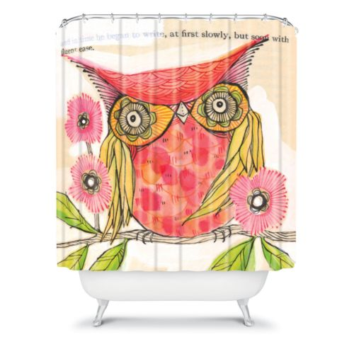 DENY Designs Cori Dantini Miss Goldie Fabric Shower Curtain