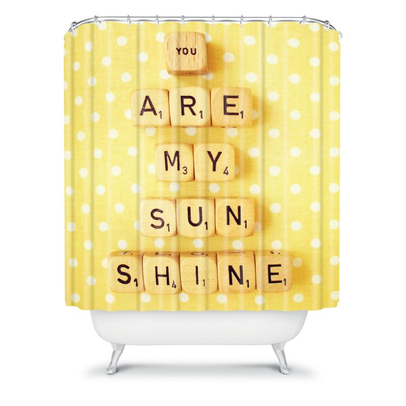 DENY Designs Happee Monkee You are my Sunshine Fabric Shower Curtain