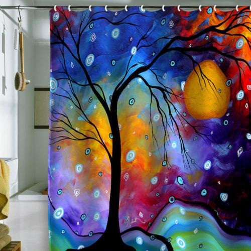 DENY Designs Madart Inc. Winter Sparkle Fabric Shower Curtain