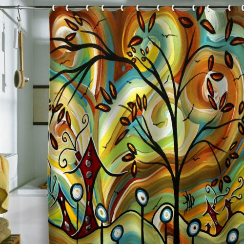 DENY Designs Madart Inc. Fall Colors Fabric Shower Curtain