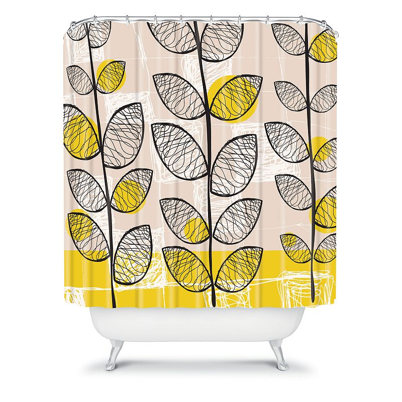 DENY Designs Rachael Taylor '50s-Inspired Fabric Shower Curtain