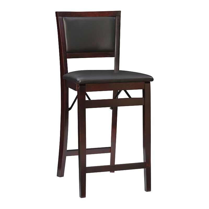 Linon Triena Padded Back Folding Chair