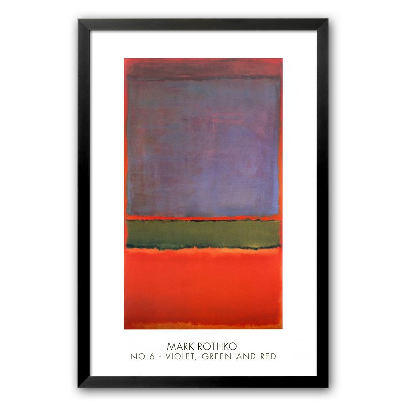 Art.com No. 6 (Violet, Green and Red), 1951 Framed Art Print by Mark Rothko