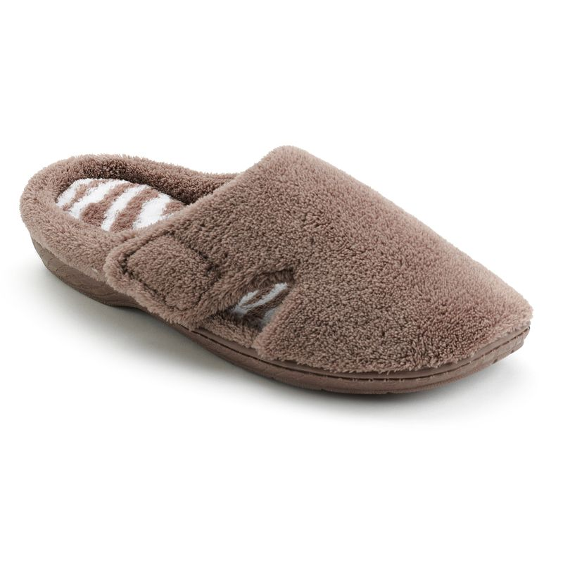 Dearfoams Zebra Velcro Clog Slippers