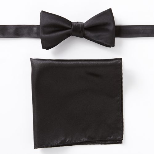 Apt. 9® Solid Pretied Bow Tie and Pocket Square