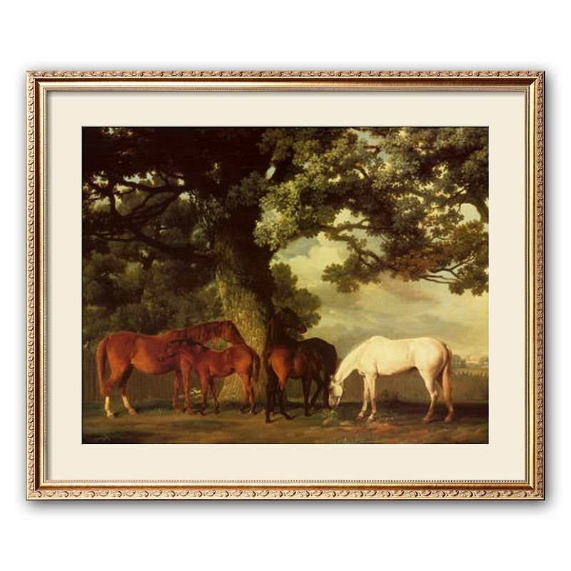 Art.com Green Pastures Framed Art Print by George Stubbs